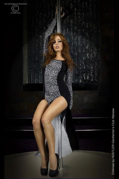 Langes Kleid CR3405 grau